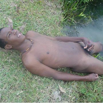 Lean Black Boy Nude Cum By The River   Daily Dudes @ Dude Dump