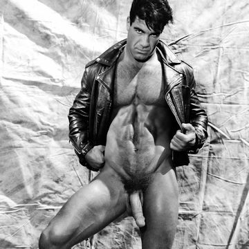 Leather daddy Tony Ganz in B&W | Daily Dudes @ Dude Dump