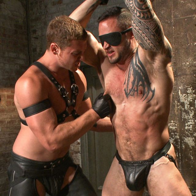 Leather hunk fucks slave | Daily Dudes @ Dude Dump