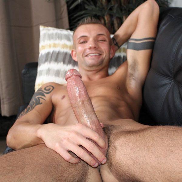 Leo Wyatt strokes his big cock | Daily Dudes @ Dude Dump