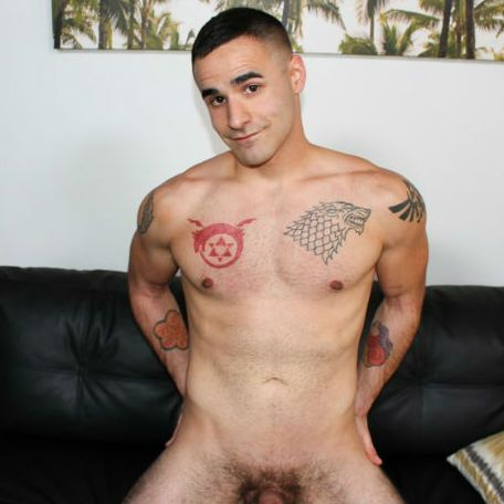 Logan caresses his chest and plays with his nipple | Daily Dudes @ Dude Dump