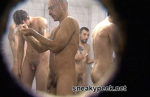 Long uncut dicks in the shower room | Daily Dudes @ Dude Dump