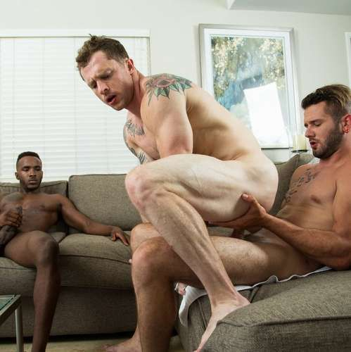 Markie More Rides Two RAW Dicks | Daily Dudes @ Dude Dump