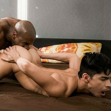 "Max Konnor & Aaron Perez in ""Black Cocks Rule"" 