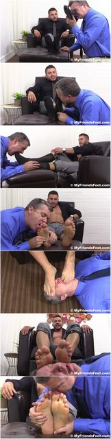 Michael Fitt's Feet Worshiped | Daily Dudes @ Dude Dump