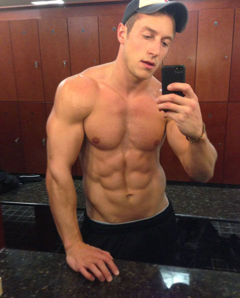 Muscular Frat Stud Gives It A Jerk On His WebCam | Daily Dudes @ Dude Dump