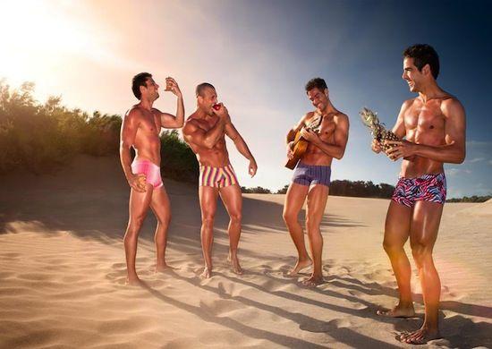 On The Beach With Muscle Boys | Daily Dudes @ Dude Dump