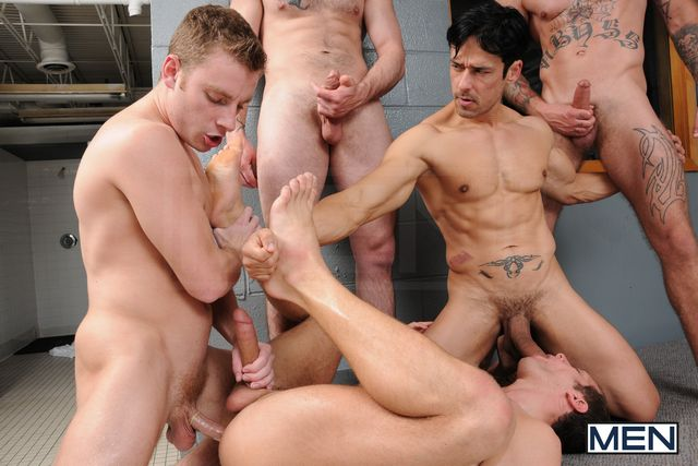 Orgy with Rafael, Ricky, Tony, Spencer & Sebastian | Daily Dudes @ Dude Dump
