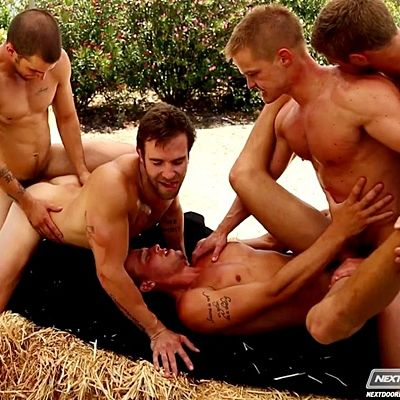 Outdoors Orgy of Five Gorgeous Studs | Daily Dudes @ Dude Dump