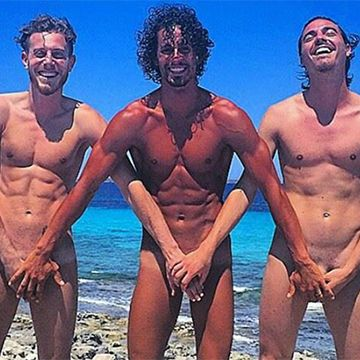 Panionios' footballers totally naked on holiday | Daily Dudes @ Dude Dump