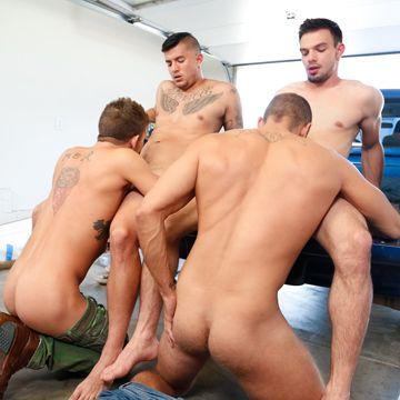 Plenty of hard dick to enjoy in this jock orgy! | Daily Dudes @ Dude Dump