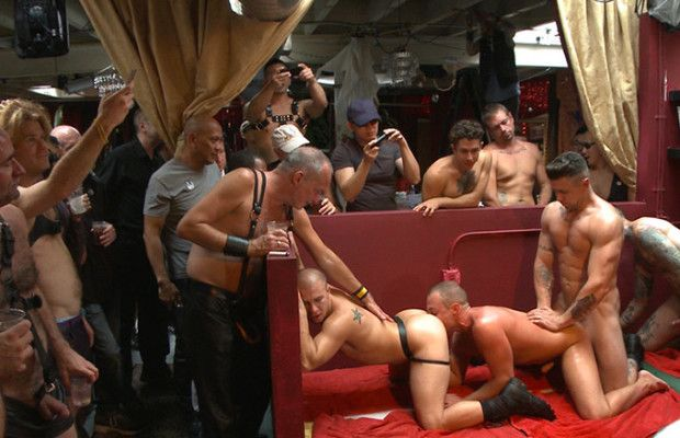 Public Whore Doused with Piss   Daily Dudes @ Dude Dump