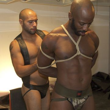 Race Cooper gets a gay flogging from Leo Forte | Daily Dudes @ Dude Dump