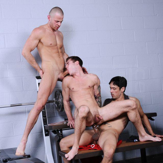 Rafael Alencar Fucks Two Hot Guys at the Gym | Daily Dudes @ Dude Dump