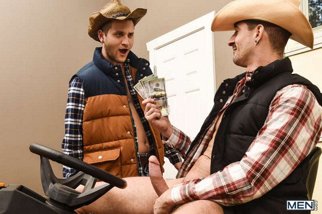 Ranch hand Allen Lucas gets some tasty cowboy cock | Daily Dudes @ Dude Dump