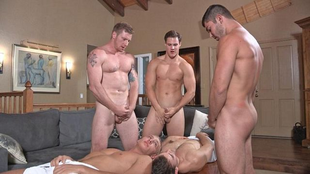 Raw Five Man Orgy at a Mountain Retreat | Daily Dudes @ Dude Dump