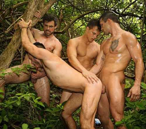 Raw Gay Outdoor Foursome at SEAN CODY | Daily Dudes @ Dude Dump