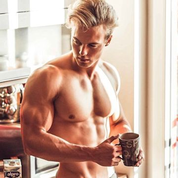 Ready for a jog after his morning Joe | Daily Dudes @ Dude Dump