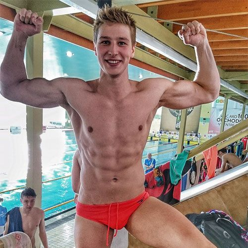 Red Speedo Stud | Daily Dudes @ Dude Dump