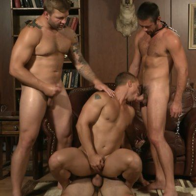 Rich Dude Takes Two Big Stud Dicks | Daily Dudes @ Dude Dump