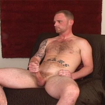 Rough Str8 Brent Strokes His Big Steel-Hard Rod | Daily Dudes @ Dude Dump