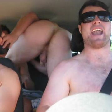 Rugby guys having fun in the car | Daily Dudes @ Dude Dump