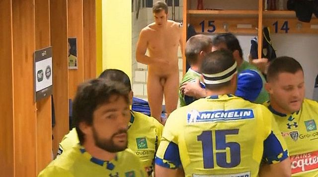 Rugby player caught naked entering the showers | Daily Dudes @ Dude Dump