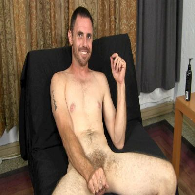 Scruffy Straight Guy Jacking His Swollen Dick | Daily Dudes @ Dude Dump