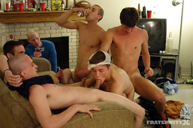 Sean gets fucked in a dorm by 8 horny students   Daily Dudes @ Dude Dump