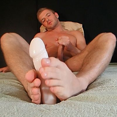 Sean Holmes Cums while Foot Playing a Dildo | Daily Dudes @ Dude Dump