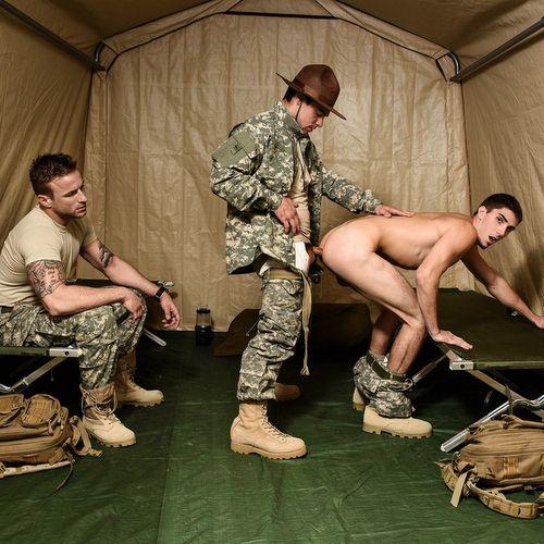 Sergeant Aspen Drills Two Privates | Daily Dudes @ Dude Dump