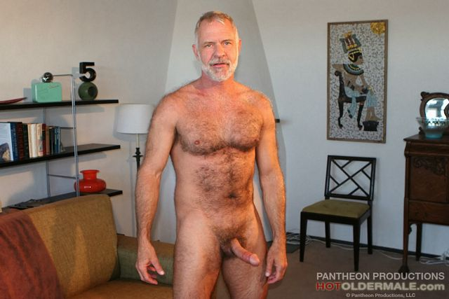Sexy Daddy Allen Silver jerks off | Daily Dudes @ Dude Dump