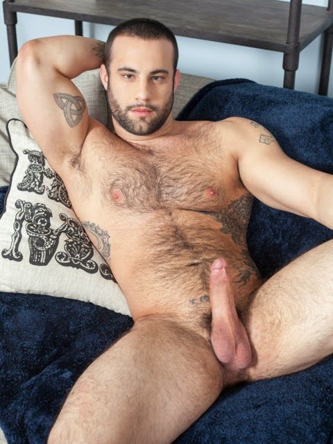 Sexy hairy guy Dex Hammer jerks off | Daily Dudes @ Dude Dump
