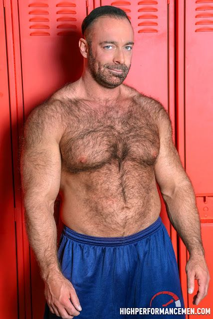 Sexy muscle Bear Brad Kalvo strips and shows off | Daily Dudes @ Dude Dump