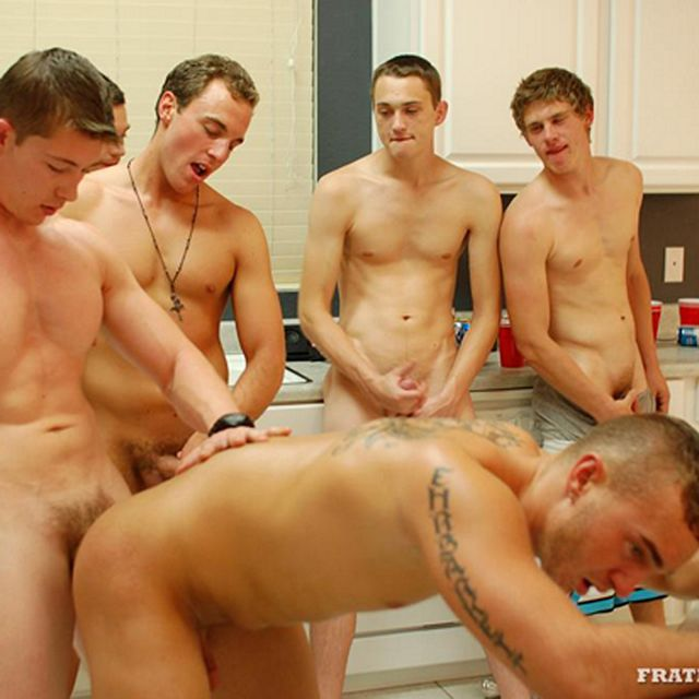 Slutty Jock Gets Used by Five Frat Bros! | Daily Dudes @ Dude Dump