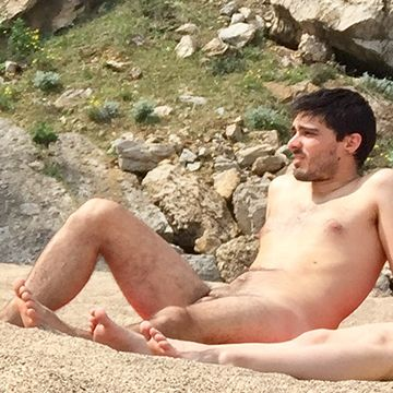 Spanish straight guy caught over the nudist beach | Daily Dudes @ Dude Dump