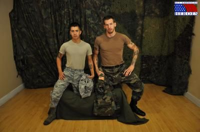 Specialist Wolf nails Airman First Class Paolo | Daily Dudes @ Dude Dump