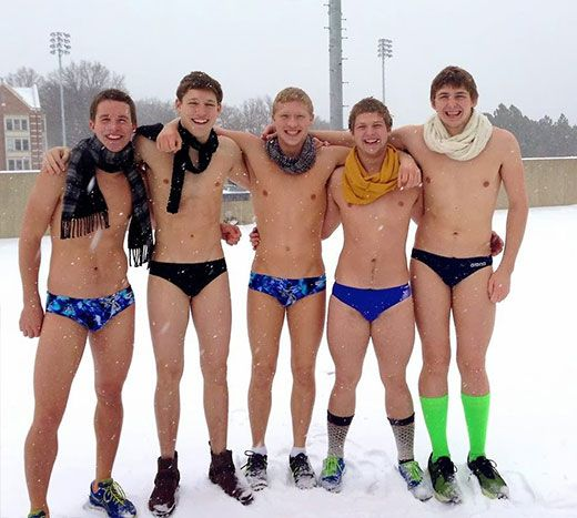 Speedos in the Snow | Daily Dudes @ Dude Dump