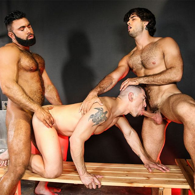 Stevenand Diego fuck Jeremy | Daily Dudes @ Dude Dump