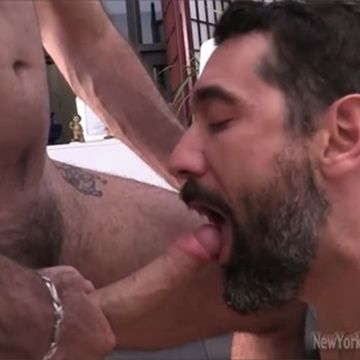 Str8 Bearded Man Jim & Brock Exchange Blowjobs | Daily Dudes @ Dude Dump