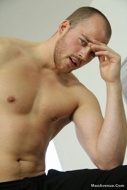 Straight Hunk John Twist jerks off | Daily Dudes @ Dude Dump