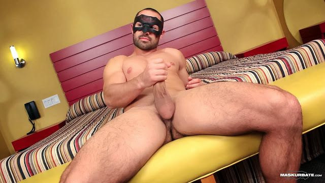 Straight masked Alexandre strips and jerks off | Daily Dudes @ Dude Dump