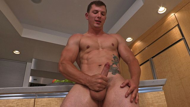 Straight military guy jerking off his uncut cock | Daily Dudes @ Dude Dump