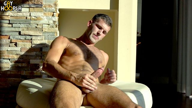 Tan hairy Jock Mathieu Sire jerks off and cums! | Daily Dudes @ Dude Dump