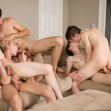 Teen Bareback Orgy | Daily Dudes @ Dude Dump