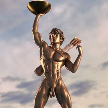 The Colossus of Rhodes & his colossal cock | Daily Dudes @ Dude Dump