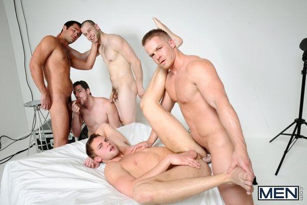 The room – 5 Hot Hunks' Orgy | Daily Dudes @ Dude Dump