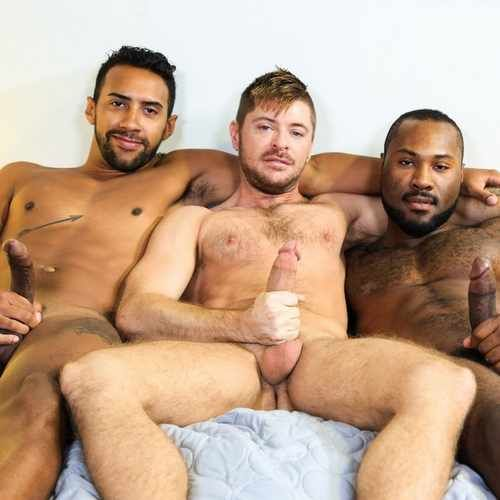"Three Big Dicks Fuck Fest in ""28 Inches Of Cock! 