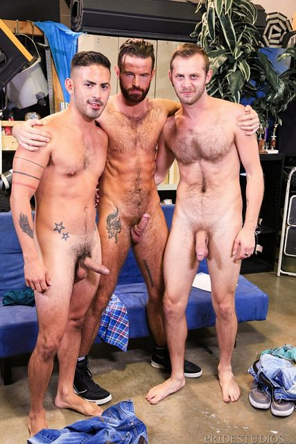 Three Hairy Guys Fuck Each Other in Whoreders | Daily Dudes @ Dude Dump