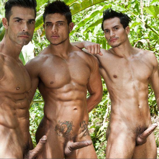 Threeway in the Jungle | Daily Dudes @ Dude Dump
